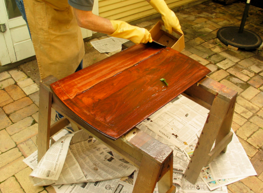 Stripping Wood – Part of Painting Preparation